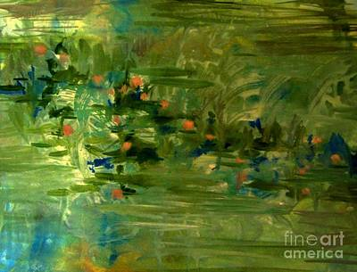 Painting - The Water Lilies by Nancy Kane Chapman
