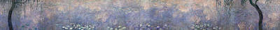 Weeping Painting - The Water Lilies, The Two Willows by Claude Monet