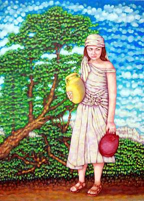 Water Jars Mixed Media - The Water Maid by Edward Ruth