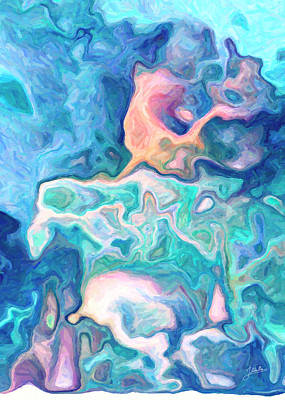 Abstract Digital Art - The Water Of The Stars by Joaquin Abella
