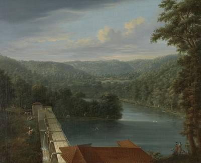 Belgrade Painting - The Water Reservoirs The So-called Bends In Belgrade Forest Johann Christian Vollerdt, 1744  176 by Celestial Images