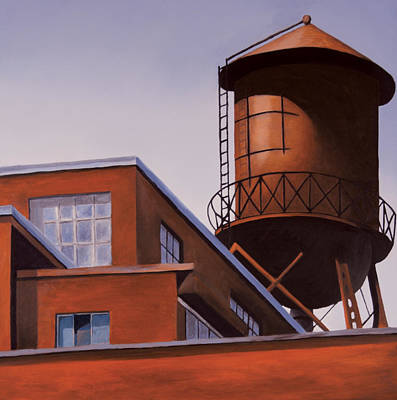 Water Tower Painting - The Water Tower by Duane Gordon
