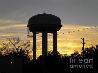 Photograph - The Water Tower by Jenny Revitz Soper
