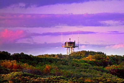 Photograph - The Water Tower Reflex Last Light by Miroslava Jurcik
