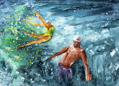 Painting - The Water Wall by Miki De Goodaboom