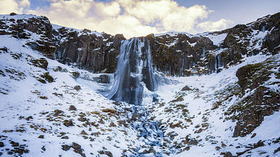 Photograph - The Waterfall At Olafsvik by James Billings