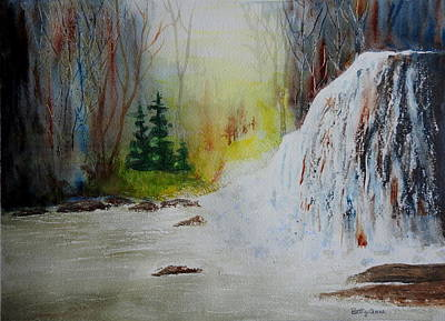 Mixed Media - The Waterfall by Betty-Anne McDonald