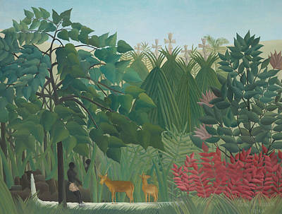 Painting - The Waterfall by Henri Rousseau