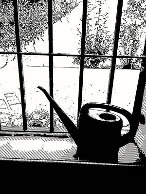 Digital Art - The Watering Can by Arjun L Sen