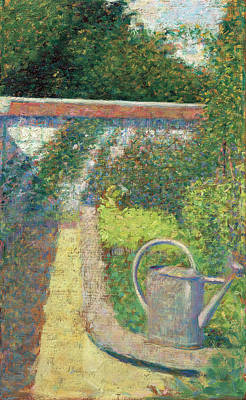 Painting - The Watering Can - Garden At Le Raincy by Georges Seurat
