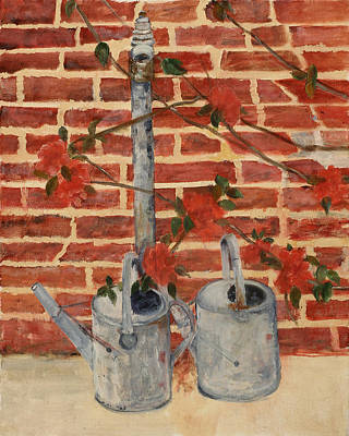 The Watering Cans Art Print by Betty Stevens