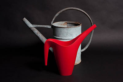 Studio Photograph - The Watering Cans by Lynn Berreitter