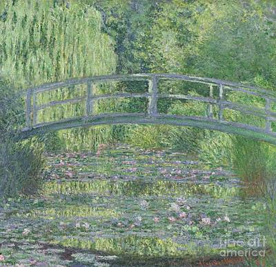 Willow Trees Painting - The Waterlily Pond by Claude Monet