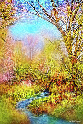 Digital Art - The Waters And The Trees by Joel Bruce Wallach
