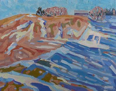 Watershed Painting - The Watershed Backyard by Phil Chadwick