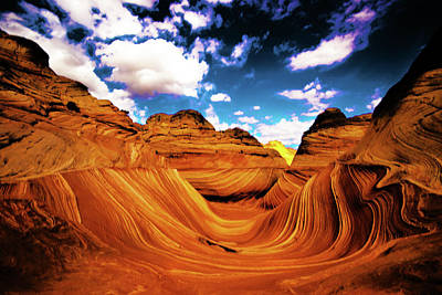 Photograph - The Wave Arizona Light by Norman Hall