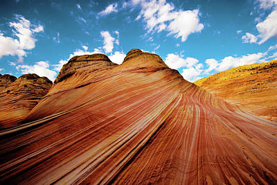 Photograph - The Wave Arizona Rocks by Norman Hall