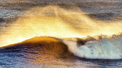 Photograph - The Wave Breaks by David Kay