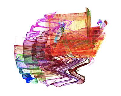 Digital Art - The Wave by Dwayne Jahn