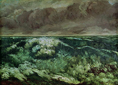 La Vague Painting - The Wave by Gustave Courbet
