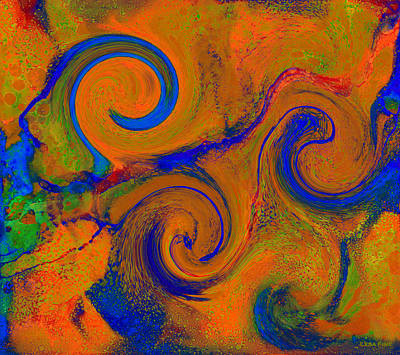 Digital Art - The Wave Of Truth 2 Gold by Lesa Fine