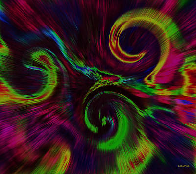 Digital Art - The Wave Of Truth 2 Lime Pink by Lesa Fine