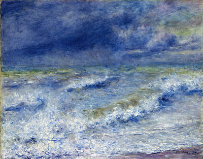 Pierre August Renoir Painting -  The Wave by MotionAge Designs