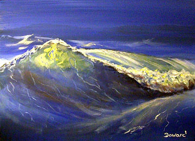 Painting - The Wave by Raymond Doward