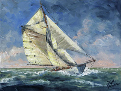 Yacht Painting - The Wave - Sails 12 by Irek Szelag