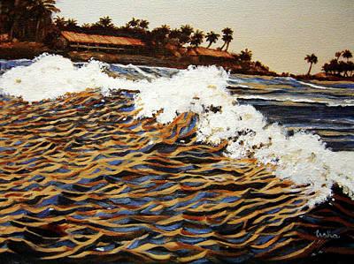 Kerala Painting - The Wave by Usha Shantharam