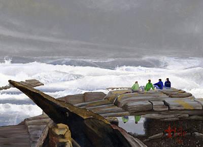The Wave Watchers Art Print