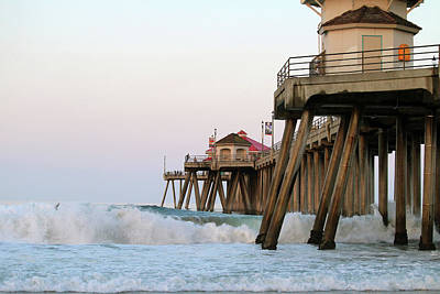 Photograph - The Waves Of Huntington Beach by Art Block Collections