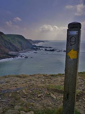 Photograph - The Way Ahead Steeple Point Duckpool Cornwall by Richard Brookes