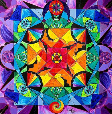Painting - The Way - Arcturian Blue Ray Grid by Teal Eye Print Store