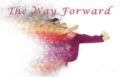 Knockout Digital Art - The Way Forward by Humorous Quotes