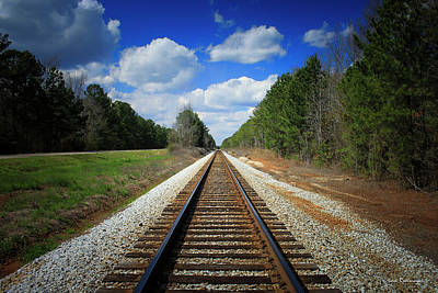 Photograph - The Way Home Railroad Track Art by Reid Callaway