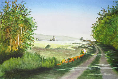 Wall Art - Painting - The Way Home by Terry Arroyo Mulrooney