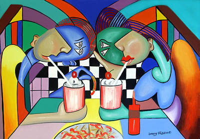 Dinner Digital Art - The Way It Use To Be by Anthony Falbo