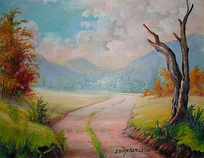 Painting - The Way by Leomariano artist BRASIL