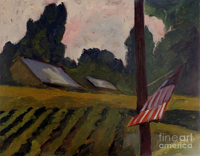 Novel Painting - Sold The Way Station Plein Air Framed by Charlie Spear