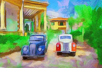 Painting - The Way We Were - Cars by Wayne Pascall