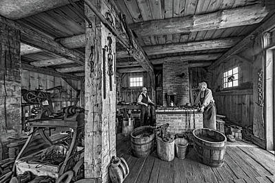 Smithy Photograph - The Way We Were - The Blacksmith 2 Bw by Steve Harrington
