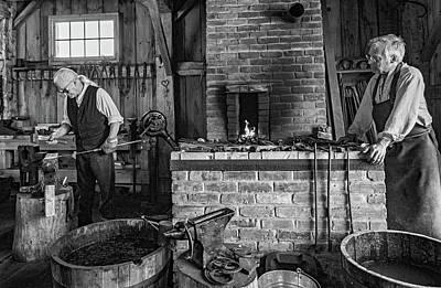 Smithy Photograph - The Way We Were - The Blacksmith Bw by Steve Harrington