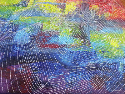 Abstract Map Drawing - The Weather Map by Samantha Choo