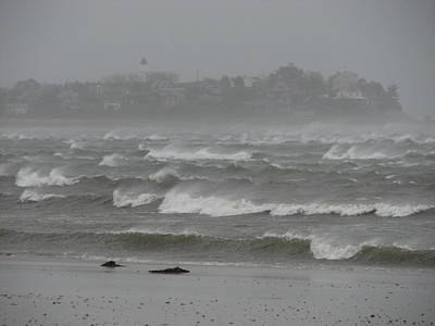 Gurnet Light Photograph - The Weather Started Getting Rough by Brian Mazzoli