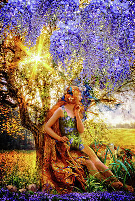 Portraits Digital Art - The Weather Sunshine by Debra and Dave Vanderlaan