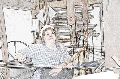 Loom Digital Art - The Weaver by Robert Nelson