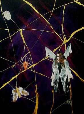 Wall Art - Mixed Media - The Web by Helen Krummenacker