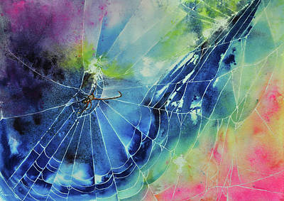 Wall Art - Painting - The Web by Terry Arroyo Mulrooney