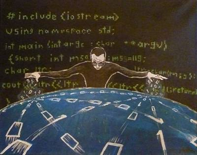World Wide Web Painting - The Webmaster by Georg Hoffmann